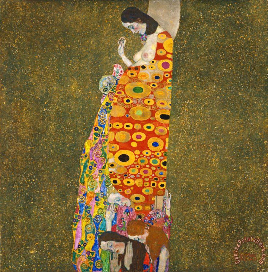 Gustav Klimt Hope Ii Lady Art Print