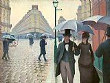 Gustave Caillebotte Paris Street Rainy Day Print
