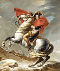 Jacques Louis David Bonaparte Crossing The Grand Saint-bernard Pass Print