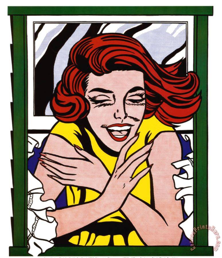 Roy Lichtenstein Girl in Window Art Print