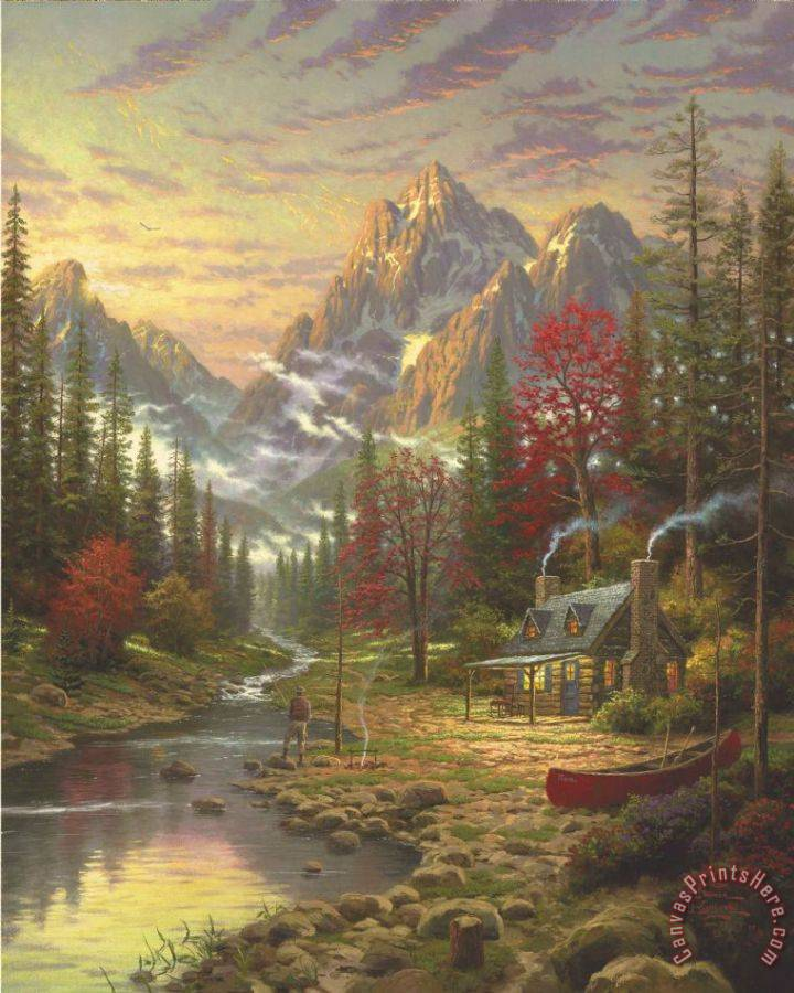 Thomas Kinkade The Good Life Art Print
