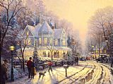Thomas Kinkade A Holiday Gathering Print