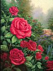 Thomas Kinkade A Perfect Red Rose Print