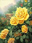 Thomas Kinkade A Perfect Yellow Rose Print