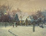 Thomas Kinkade A Winter's Cottage Print