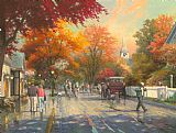 Thomas Kinkade Autumn on Mackinac Island Print