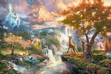 Thomas Kinkade Bambi's First Year Print