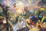 Thomas Kinkade Beauty And The Beast Falling in Love Print