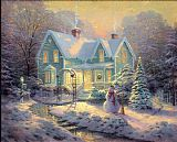 Thomas Kinkade Blessings of Christmas Print