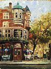 Bloomsbury Cafe by Thomas Kinkade