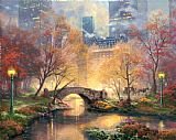 Thomas Kinkade Central Park in The Fall Print