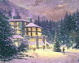 Thomas Kinkade Christmas at The Ahwahnee Print