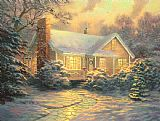 Thomas Kinkade Christmas Cottage Print