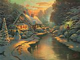Thomas Kinkade Christmas Evening Print