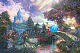 Thomas Kinkade Cinderella Wishes Upon a Dream Print