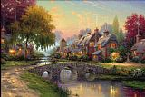 Thomas Kinkade Cobblestone Bridge Print