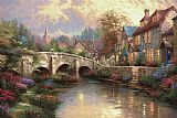 Cobblestone Brooke by Thomas Kinkade