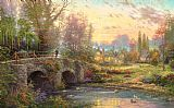 Thomas Kinkade Cobblestone Evening Print