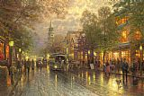 Thomas Kinkade Evening on The Avenue Print
