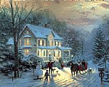 Thomas Kinkade Home for The Holidays Print