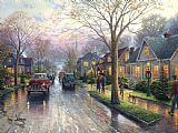 Thomas Kinkade Hometown Christmas Print
