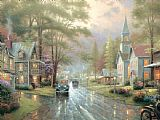 Thomas Kinkade Hometown Evening Print