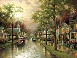 Hometown Morning by Thomas Kinkade