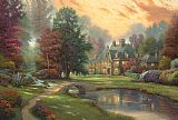 Thomas Kinkade Lakeside Manor Print