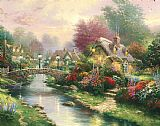 Thomas Kinkade Lamplight Bridge Print