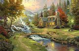 Thomas Kinkade Mountain Paradise Print