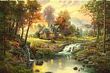 Thomas Kinkade Mountain Retreat Print