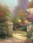 Thomas Kinkade Rose Gate Print