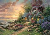 Thomas Kinkade Seaside Hideaway Print