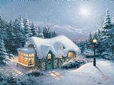 Thomas Kinkade Silent Night Print