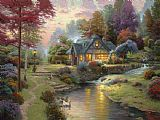 Thomas Kinkade Stillwater Cottage Print
