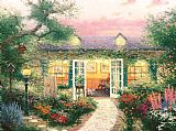 Thomas Kinkade Studio in The Garden Print