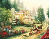 Thomas Kinkade Sunday at Apple Hill Print