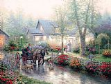 Thomas Kinkade Sunday Outing Print