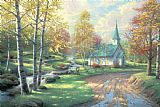 Thomas Kinkade The Aspen Chapel Print