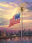 Thomas Kinkade The Light of Freedom Print