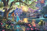 Thomas Kinkade The Princess And The Frog Print