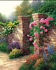 Thomas Kinkade The Rose Garden Print