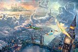 Thomas Kinkade Tinker Bell And Peter Pan Fly to Neverland Print