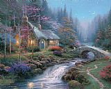 Thomas Kinkade Twilight Cottage Print