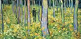 Vincent van Gogh Undergrowth with Two Figures Print