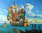 Vladimir Kush Departure of The Winged Ship Print