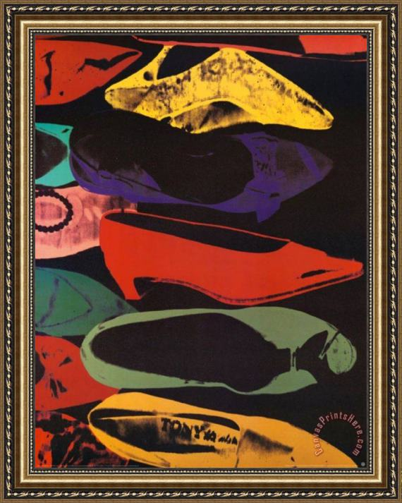 Andy Warhol Shoes 1980 Framed Print
