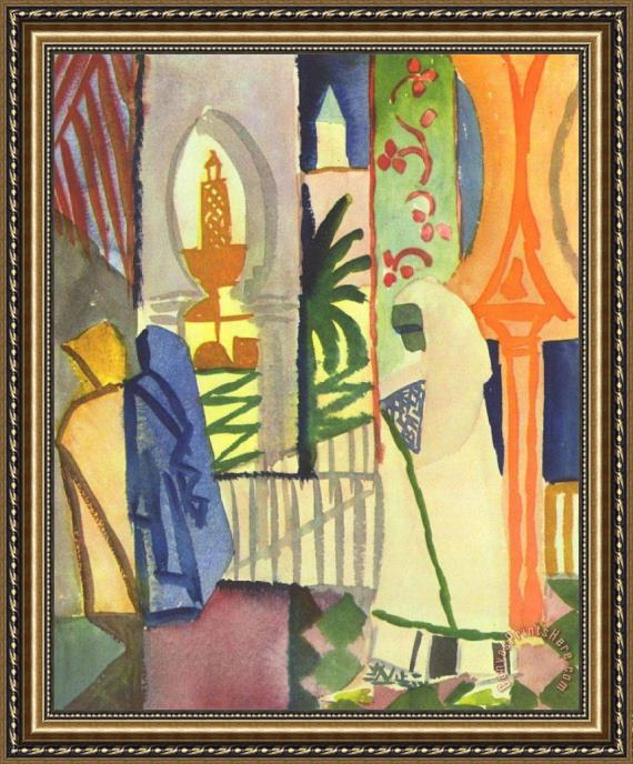 August Macke In The Temple Hall Framed Print