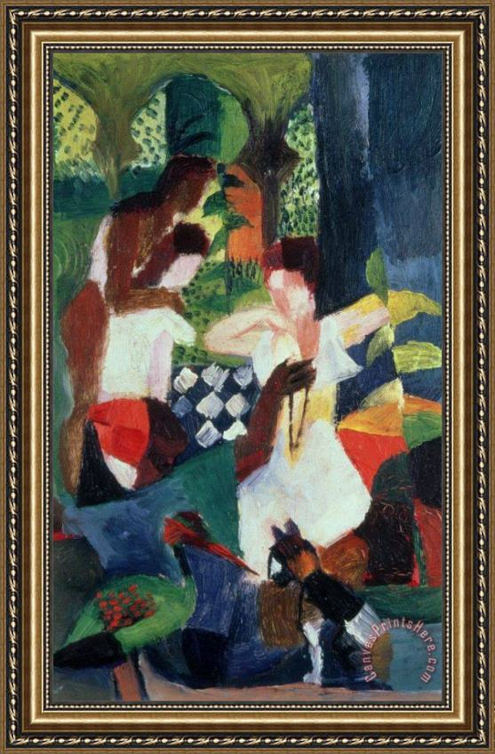 August Macke The Turkish Jeweller Framed Print