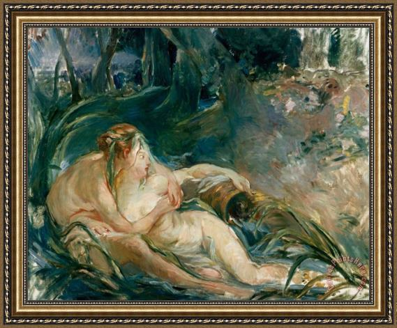 Berthe Morisot Apollo Appearing to Latone Framed Print